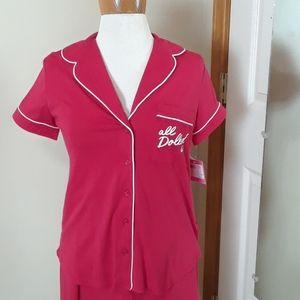 NWT Kate Spade red short sleeve pajamas size XS